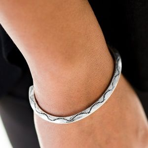 Silver Cuff with Tribal Design